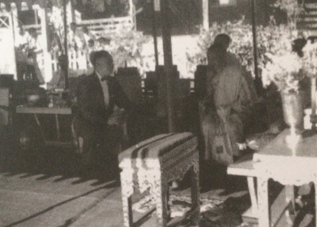 พระครูอมรคณาจารย์ (เส้ง สํวรปฺญโญ) กับ พลเอก ประภาส จารุเสถียร