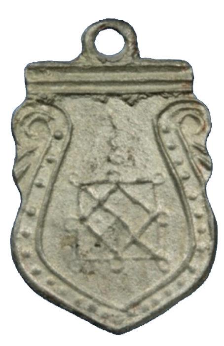เหรียญหลวงพ่อโต วัดวิหารทอง ชัยนาท เนื้อตะกั่ว ลป สุข ร่วมปลุกเสก ปี 2460
