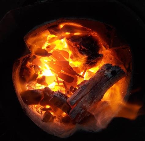 การเผาตะปูสังฆวานร ในความร้อนสูง