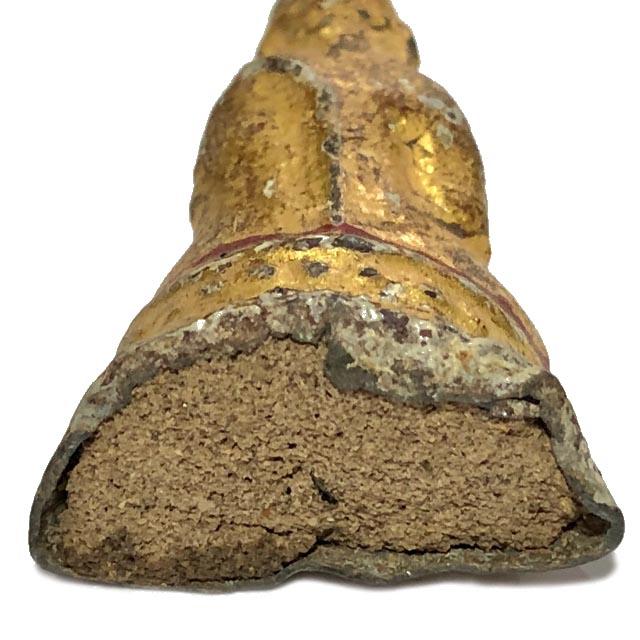 พระกรุวัดเชิงท่า นนทบุรี พิมพ์สมาธิ เนื้อชินตะกั่ว พิมพ์กลาง